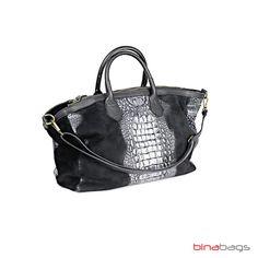 Shopper aus Rauleder DEBORA Metallic Look, Models, Shopper, Louis Vuitton Neverfull, Tote Bag, Bags, Fashion, Leather, Templates