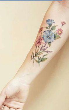 January, April, May flowers for grandparents. - January, April, May flowers for grandparents… - Piercings, Piercing Tattoo, Gorgeous Tattoos, Pretty Tattoos, Body Art Tattoos, Sleeve Tattoos, Birth Flower Tattoos, Tattoo Henna, Wildflower Tattoo
