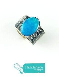 Sterling Silver Genuine High-Quality Arizona Turquoise Gemstone Hammered Adjustable Ring from echmeck https://www.amazon.com/dp/B01M7090FM/ref=hnd_sw_r_pi_dp_ZzTpzbMFK8JK9 #handmadeatamazon