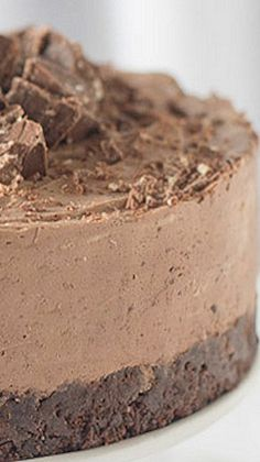 Gluten Free Toblerone Cheesecake - Use Trader Joe's GF Joe Joe's chocolate wafers! Yes, Toblerone is gluten free! One of my personal favorites!~GF Cheryl~
