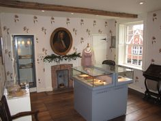 The Austen Upper floor sitting room used by mrs Austen at the Jane Austen House Museum in Chawton.