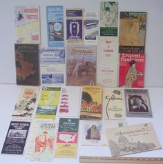 Lot of 23 Vintage Brochures Booklets Maps of USA Travel Destinations 1930s | eBay