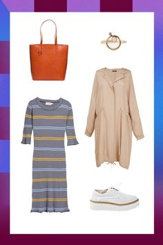 Lazy Brunch Outfits That Still Look Put-Together #refinery29  http://www.refinery29.com/lazy-brunch-outfits#slide-5  Everyone needs some throw-on-and-go dresses in their closet for rushed mornings. With some platform shoes, a breezy trench, and your usual carry-all tote, you've got an outfit that's just as laid-back as it is Instagram-worthy.Farrow Campbell Dress, $88.99, available at Need Supply</a...