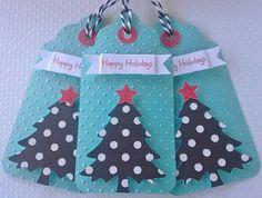 Christmas tags Holiday tags  Aqua and red christmas tags Turquoise and red holiday tags christmas gift tags  christmas tags