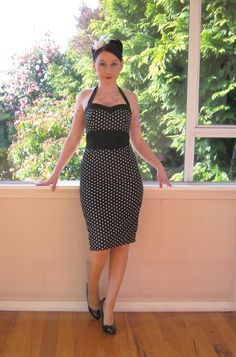 Polka Dot Dress 1950s Inspired Pin up Rockabilly by PixiePocket, $110.00. I think this is my Maid of Honor's dress!