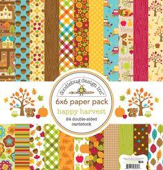 Doodlebug Design - Happy Harvest Collection - 6 x 6 Paper Pad at Scrapbook.com
