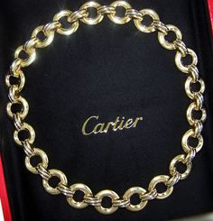 CARTIER TRINITY 18k TRI COLOR GOLD ALIZE NECKLACE 18k PINK YELLOW WHITE GOLD #Cartier…