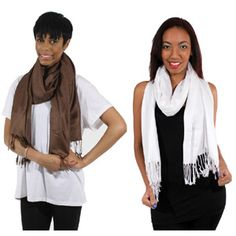 Pashmina Scarf $4.95 Wrap Around Instant Elegance Pashmina scarves are a great way to add a little color to your wardrobe. C-A962   See more here: africaimports