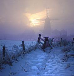 Dutch snow scene.