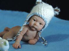 ooak By Sheila Mrofka Babies Polymer Clay Figures, Polymer Clay Dolls, Polymer Clay Miniatures, Dollhouse Miniatures, Cute Baby Dolls, Reborn Baby Dolls, Cute Babies, Face Mold, Clay Baby