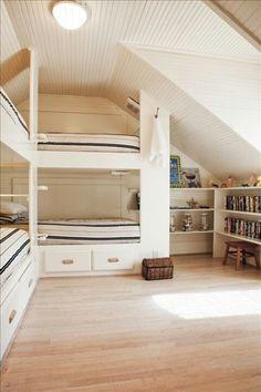 Beachy bunk room