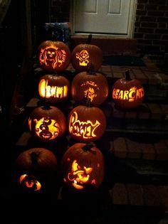 Last fall pumpkin carving party