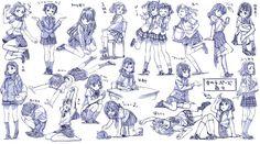 女の子制服ポーズ練習20ポーズ / さきの新月 さんのイラスト - ニコニコ静画 (イラスト)