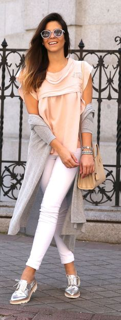 Soft Colors Outfit Idea by TrendyTaste
