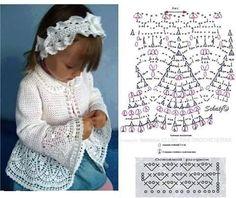 Crochet Jacket Crochet Hooded Scarf Crochet Saco Handmade Baby Crochet Baby Sweaters Crochet Clothes Knitting For Kids Crochet For Kids Dress Patterns Crochet Bedspread Pattern, Crochet Baby Dress Pattern, Baby Girl Crochet, Crochet Baby Hats, Crochet For Kids, Baby Girl Patterns, Baby Knitting Patterns, Crochet Patterns, Crochet Baby Sweaters