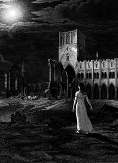 UNDEAD, UNDEAD: JOHN COULTHART'S BEAUTIFUL ILLUSTRATIONS FOR BRAM STOKER'S 'DRACULA' Gothic Horror, Horror Art, Vampire Bride, Gothic Fantasy Art, Bram Stoker's Dracula, Most Haunted Places, Vampire Books, History Projects, Dark Gothic