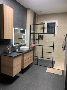 How to Finish Your Basement and Basement Remodeling – House Remodel HQ Best Bathroom Designs, Polished Concrete, Walk In Shower, Patio Design, Modern House Design, Amazing Bathrooms, Sweet Home, Inspirer, Kitchen