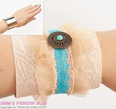DIY Bangle with Lace and Tulle
