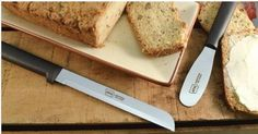 Latest design based bread slicing knife is sharp and stays sharp for a long time. Great for slicing regular bread, banana bread, cakes, and hoagie buns. The fine serration is sharpened by hollow grinding both sides of the blade, not just one side. Case Knives, Knives And Tools, Gerber Knives, Engraved Knife, Best Pocket Knife, Banana Bread, Grinding, Buns, Desserts