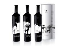 Karadag wine bottle label design indesign