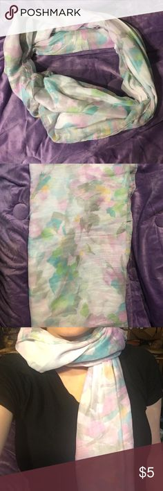 3 for $12 H&M Scarf H&M scarf. Blue, grey, green, violet pastels. Great condition barely used. H&M Accessories Scarves & Wraps