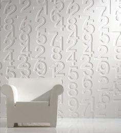 wall panels / http://modernurbanliving.com/2008/07/helvetica-wallpaper/