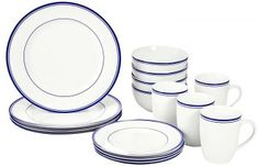 Porcelain Dinnerware Set Plates Soup Mugs Dining Kitchen Dinner Pack - Dinnerware - Ideas of Dinnerware Dinnerware Sets For 12, White Dinnerware, Porcelain Dinnerware, Farmhouse Dinnerware, Dinnerware Ideas, Modern Dinnerware, Show Plates, Plates And Bowls, Soup Mugs