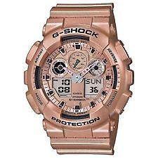 Casio G SHOCK G-Shock GA100 GA100GD rosegold watch
