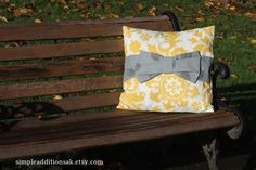 Bow Pillow Slipcover by Simpleadditionsak on Etsy, $18.00