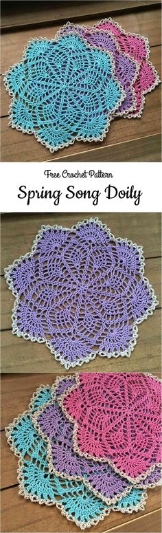 We all want that our home interior was lovely and cozy and trying our best. We want to help you in that. You can try to crochet beautiful Spring Song Doily that we have searched for you today.