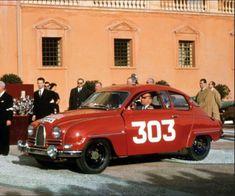 """Első (Carlsson """"Saab"""")nagy győzelmét az Ezer tó Ralin zsebelte be, két… Peugeot, Saab 900, Koenigsegg, Rally Car, Monte Carlo, Volvo, Vintage Cars, Race Cars, Convertible"""