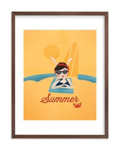 sun and surf children s art print children s art print pinterest