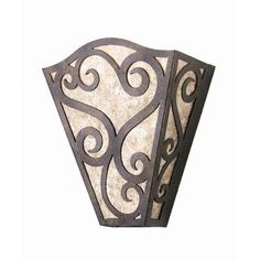 2nd Ave Design Rena 1 Light Wall Sconce Finish: Rustic Iron