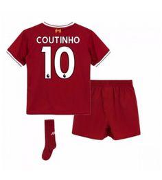 Liverpool Mario Philippe Coutinho 10 Dětské Domácí Dres 17-18 Krátký Rukáv Neymar, Messi, Ronaldo, Liverpool, Mario, Trunks, Sports, Swimwear, Tops