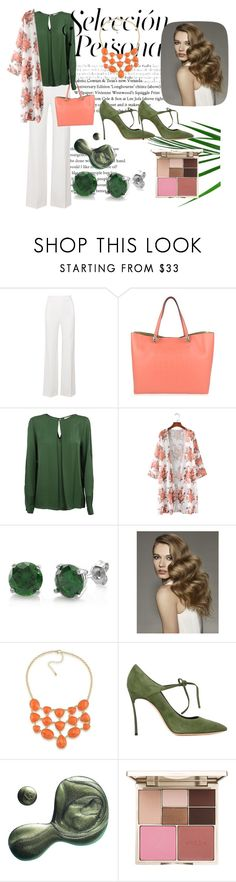 """Peach&Olive"" by lea212 ❤ liked on Polyvore featuring Roland Mouret, Roberto Cavalli, MICHAEL Michael Kors, BERRICLE, 1st & Gorgeous by Carolee, Casadei, Illamasqua and Stila"