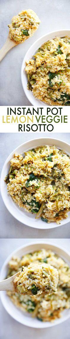 Instant Pot Lemon Veggie Risotto | Lexi's Clean Kitchen