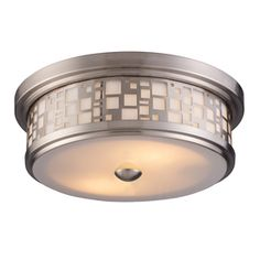 Portfolio�13-in Satin Nickel Wall Flush Mount $80 Lowes C3 & C4 in MBR entry