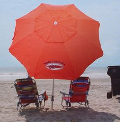 Our pick for the best beach umbrella: Ignore the big logo, this Tommy Bahama beach umbrella is perfect. Read more >>>