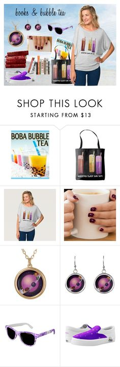 """""""Books and Bubble Tea"""" by krystinekercher ❤ liked on Polyvore featuring zazzle"""