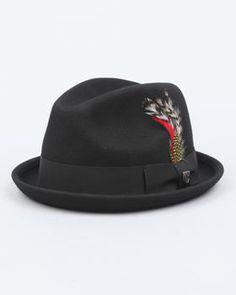 7896bda8895c0 Brixton - Gain Fedora Hat Fedora Hat