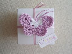 Christening Favour - Knitted Butterfly Christening Favors, Wedding Favors, Crochet Earrings, Butterfly, Sewing, Knitting, Favours, Deco, Google