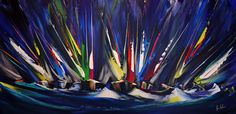 'A Blast Through the Night' - Acrylic on Canvas, 80x40cm
