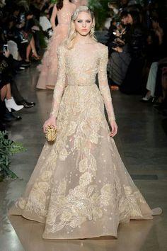 Beautiful golden gown.