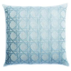 So Spring and Couture! British Cane Matelassé Pillow-Ivory & Skyhttp://www.chateau360.com/collections/pillows/products/ivory-sky-britishcane-matelasse-pillow-1