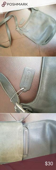 Vintage coach flap over crossbody Black leather coach purse -vintage Coach Bags
