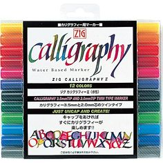 Kuretake ZIG Calligraphy 12 color set TC-3100/12V (japan ... https://www.amazon.de/dp/B00777SH7C/ref=cm_sw_r_pi_dp_3O5GxbF6C9D1Z