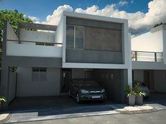 Fotos e imágenes de Fachadas de Casas Contemporáneas y Estilo Contemporáneo en México.