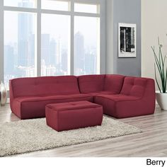 Modway Align 4-piece Upholste Armless Sectional Sofa