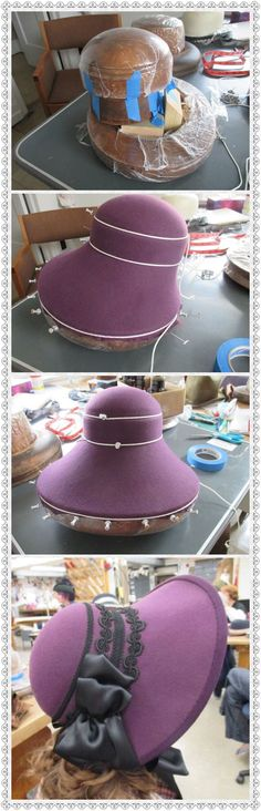 Can't really understand the method but it is quite a beautiful hat!