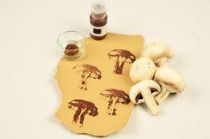 Stempel selber machen mit Pilzen